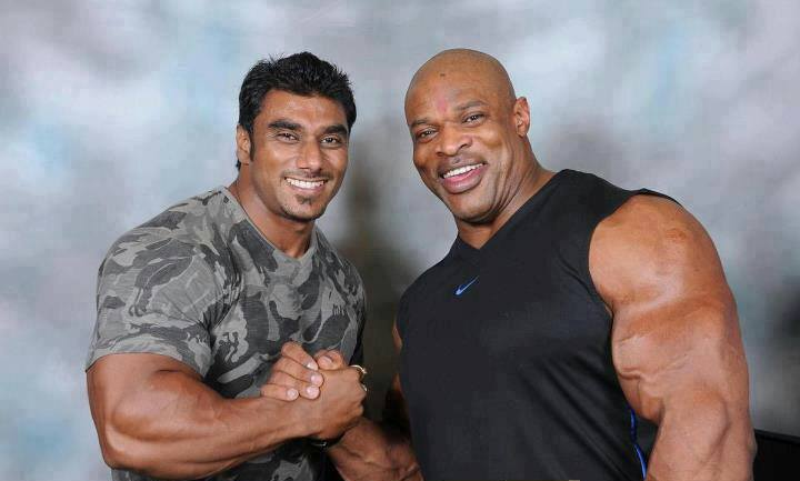 Sangram Chougule with Ronnie Coleman and Jay Cutler