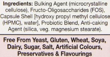 HealthAid Acidophilus Plus Ingredients