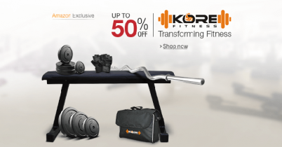 Upto 50% off on KORE Fitness products exclusively on Amazon