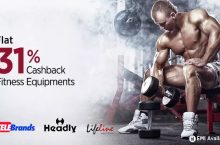 Flat 31% Cashback on Fitness Equipments PayTM