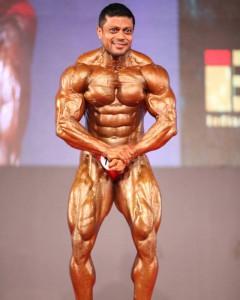 Anil Gochhikar Front Pose - IBB - Indian Bodybuilding