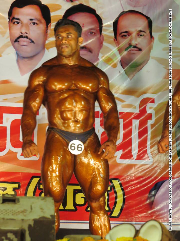 Jagdish Lad on Stage - IBB - Indian Bodybuilding