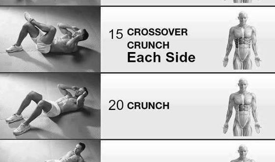 6 pack abs exercise at home with pictures.