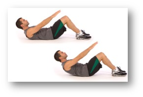 Abdominal crunches for 30 seconds