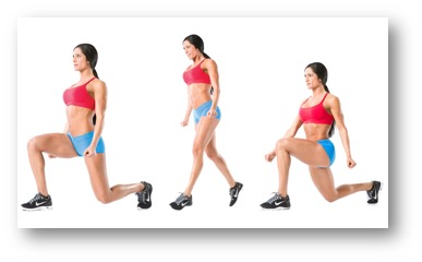 Alternate Lunges for 30 seconds