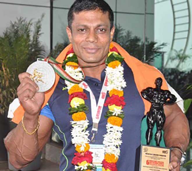 Anil Gochhikar with Medal at World Champioship