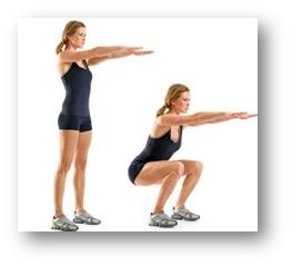 Free squat 30 reps