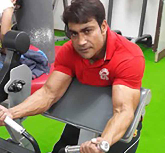 Israr Malik in Gym