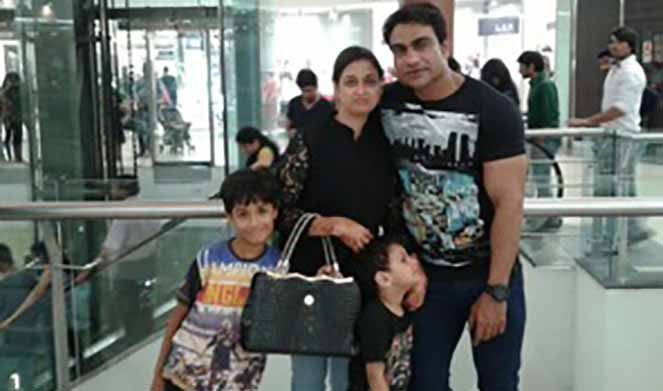 Malik Israr with Family