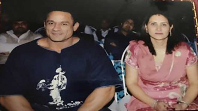 Mukesh Singh and Wife
