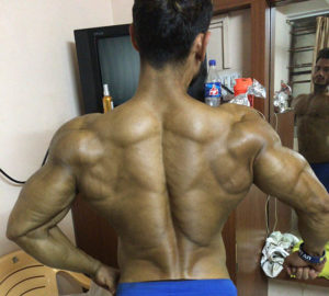 Back pose at home