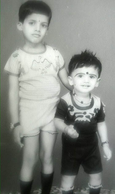 Childhood Photo of Pavan and Jeevan