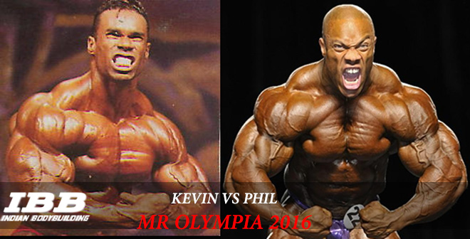 Kevin and Phil Heath Mr Olympia 2016