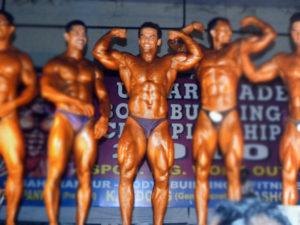 Yatinder Singh Douple Biceps Pose