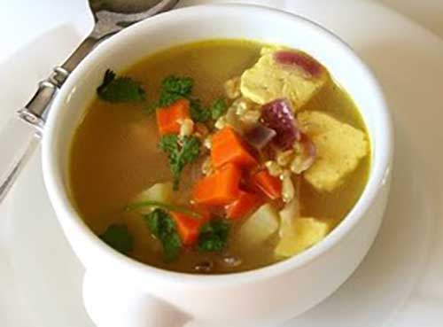 GM Diet Plan Day 5 - Vegetable Soup with Paneer