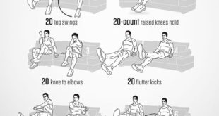 Abs workout on sofa