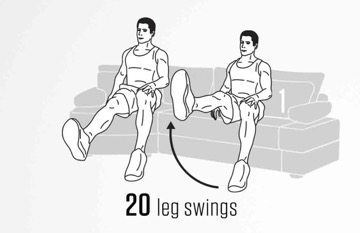 sofa Abs workout 1