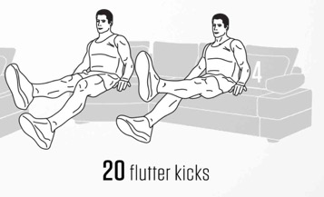 sofa Abs workout 4