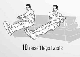 sofa Abs workout 5