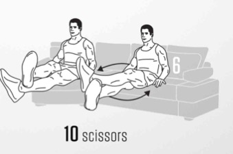 sofa Abs workout 6