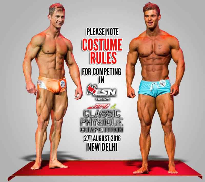 Costume Rules of Jeria Classic Physique