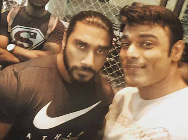 Iqbal Sayed with Sangram Chougule