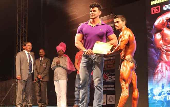 Sahil Khan Body Photo: Sahil Khan At Maharashtra Shree 2017