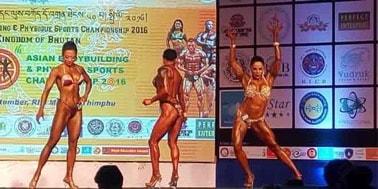 shweta posing at World Championhsip