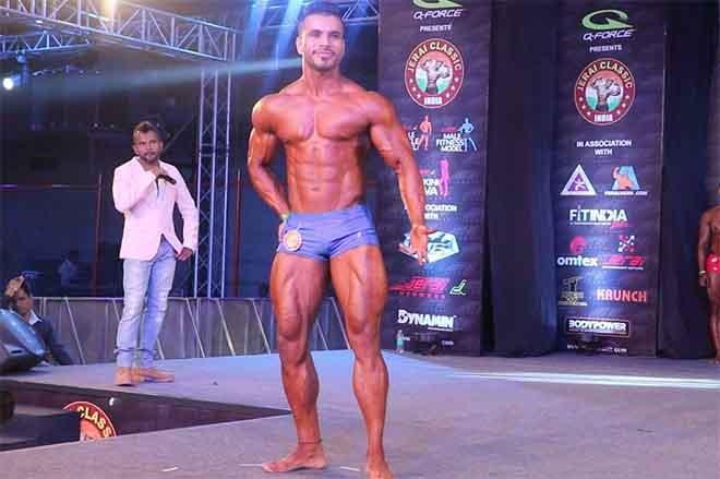 Nitin Singh Stage Pose
