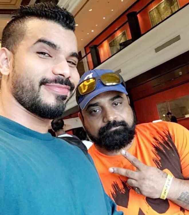 Nitin Singh with Rakesh Udiyar