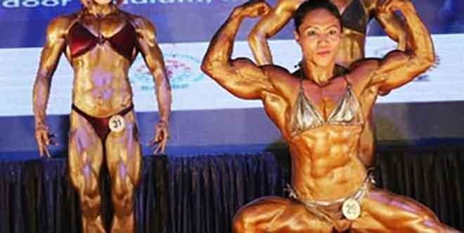 Sarita Devi Posing