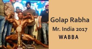 Golap Rabha_WABBA Mr India 2017
