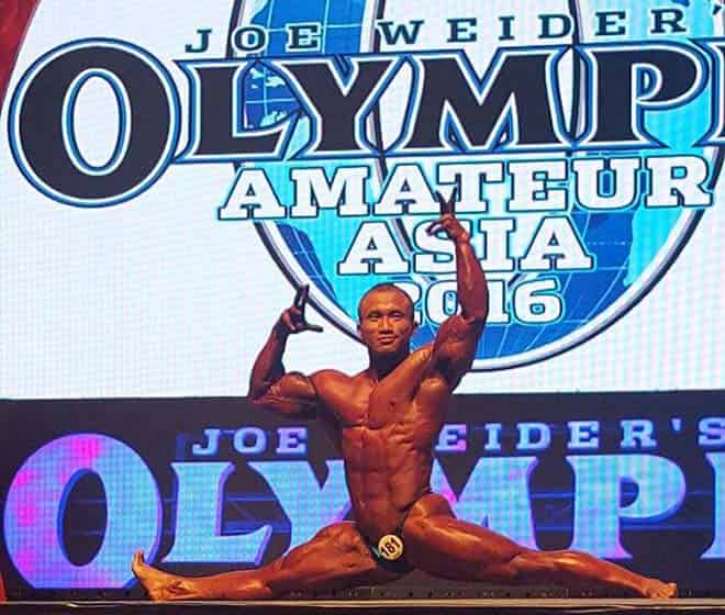 Robi Posing at Amateur Mr Olympia 2016 Asia