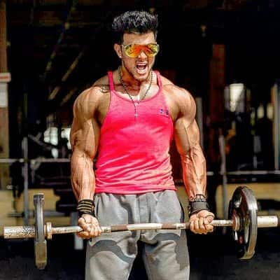 Sahil Khan Lifting Weights
