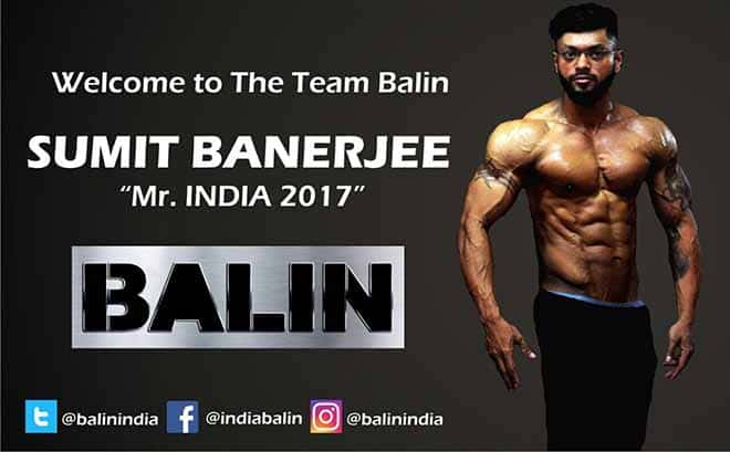Sumit Banerjee as part of Team BALIN