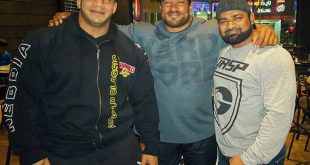 Yunus Shaikh with Big Ramy and Roelly Winklaar