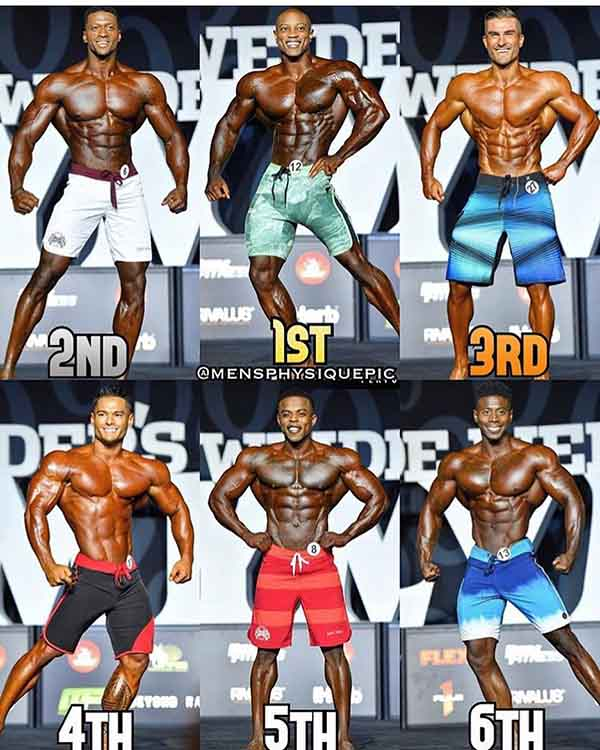Mr Olympia 2018 Mens Physique Winners