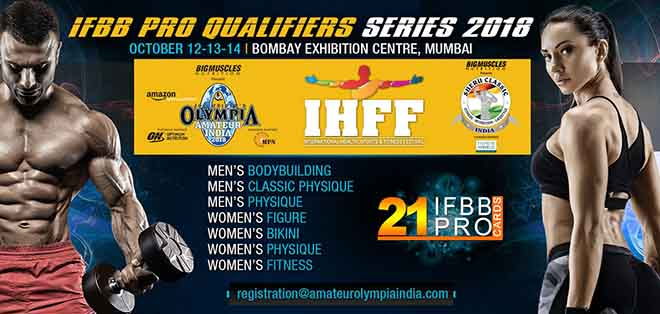21 Pro Card at Mr Olympia India 2018
