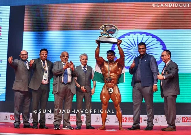 Sunit Jadhav winning Mr Asia
