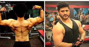 Aryan Pasha: Flexing Muscles (Source: Facebook)