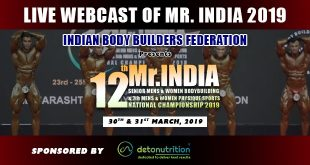 IBBF Mr India 2019 Live Streaming